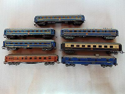 Lot of 7 Compagnie Trains - Pocher, Jouef, Restautant, Dining, Sleeping - HO