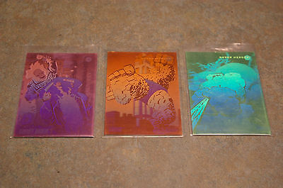 1992 Marvel Universe Series 3 'hulk' 'ghost Rider' 'thing' Hologram Cards