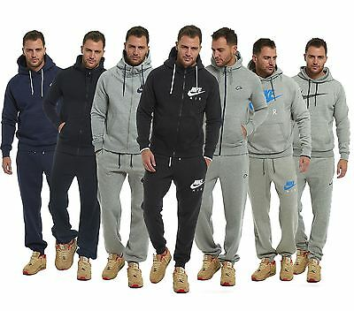 NIKE Mens Full Tracksuit Fleece Jogging Bottoms Hooded Top S M L XL