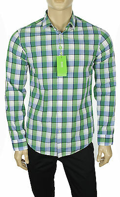 608f577e New Hugo Boss Green Label Modern Fit Long Sleeve Plaid Cotton C-Bopaz Shirt