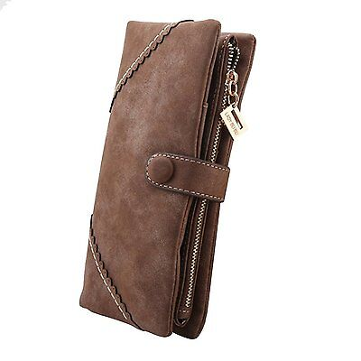 FUNOC® Women Fashion Leather Wallet Button Clutch Purse Lady Long Handbag Bag