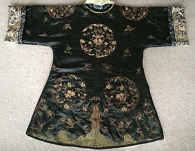 VERY RARE 19th Century Antique Chinese Silk and Fur Court Robe