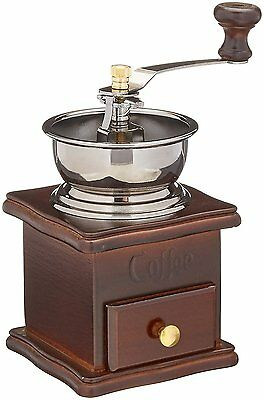 ReaLegend Wooden Manual Coffee Grinder Vintage Style Hand Coffee Mill Burr