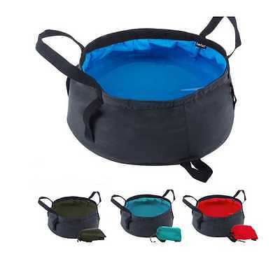 8.5L Portable Folding Travel Outdoor Camping Wash Basin Bucket  Water Carrier