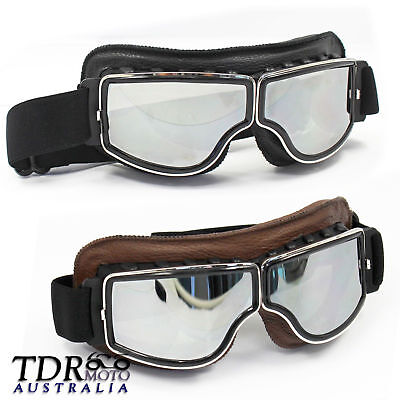 Vintage Anti-UV Motorcycle Scooter old Classic Pilot Goggles glasses Motocross