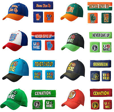 John Cena Mens Men Adult Kid Youth Sport Cap Hat Sweatbands Wristbands costume