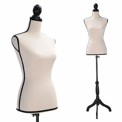 Female Mannequin Torso Dress Form Clothing Display Stand Beige