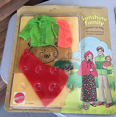 1975# Vintage Mattel The Sunshine Family Dress Up Kits#kits With Lacing#mosc
