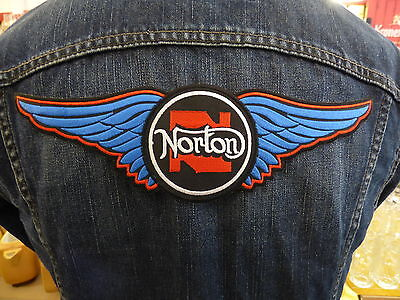 GRAND ECUSSON PATCH THERMOCOLLANT NORTON manx commando f1 moto motard biker rock