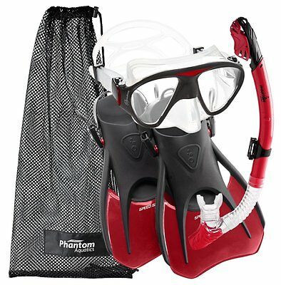 Phantom Aquatics Speed Sport Signature Mask Fin Snorkel Set, Adult