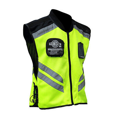 Men's Reflective Safety Motorcycle Vest Motocross Racing sleeveless Jacket Coat