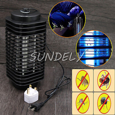 UK Hi-Q 220V Electric Mosquito Fly Bug Insect Zapper Killer With Trap Lamp