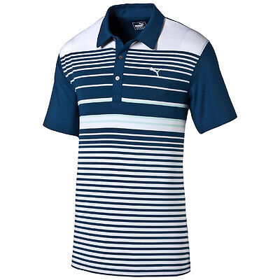 Puma Golf YD Stripe Polo Shirt Dry Cell Tech Herren