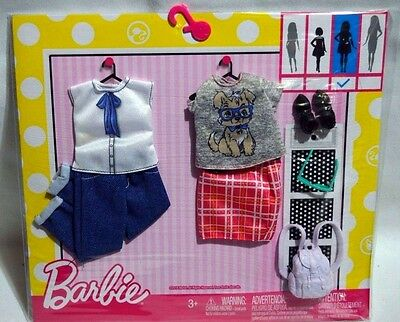New-2016-Barbie 2 Pack Fashions-Geek Chic-Fashionistas-Fits Curvy Doll +Backpack