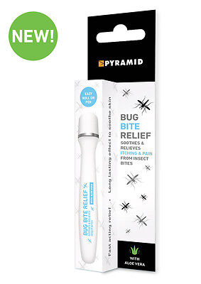 Bug Bite Relief Pen Accurate Treatment of Bites & Stings Roll On Pen Aloe Vera