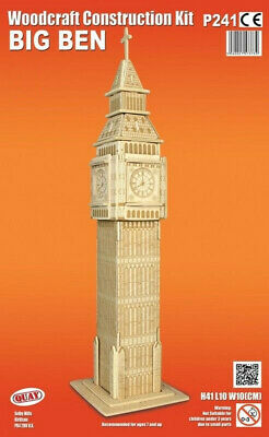 London's Big Ben Woodcraft Construction Kit - 3D Wooden Model Puzzle KIDS/ADULTS
