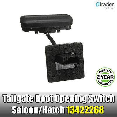 Vauxhall Insignia Tailgate Boot Opening Switch Saloon/Hatch 13422268 Non Genuine