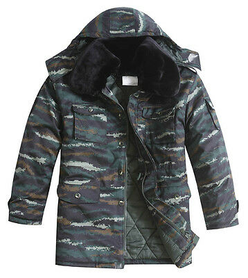 13's China Armed Police Force Tiger Digital Camo Winter Combat Cotton Overcoat