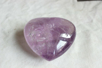 465g 1.0LB NATURAL PURPLE AMETHYST QUARTZ CRYSTAL HEARTS CARVED HEALING