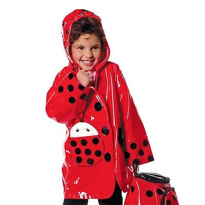 Kidorable Ladybug Rain Coat Red Raincoat Waterproof Ladybird Mac 92-98 cm 3 Yrs