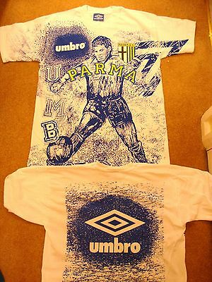 Parma FC 1990's Umbro T shirt - Original Dead Stock - BNWOT - Large