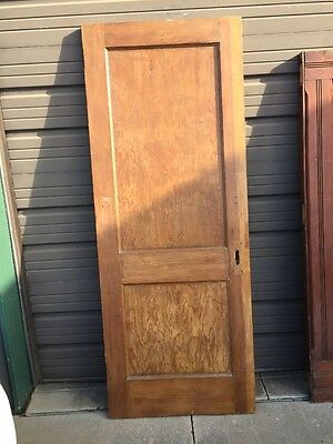 An 164 Antique Pine To Panel Passage Door 30 X 77.75 X1 3/8""