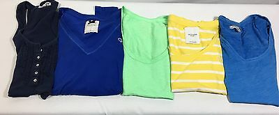 **lot Of 5** T Shirts & 1 Tank Top Wet Seal, Gilly Hicks & American Eagle Sz Xs