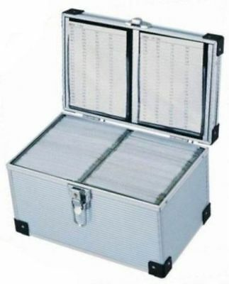 New 300 Aluminium CD DVD Blu Ray Disc Storage Flight Carry Case