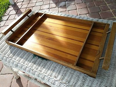 Vintage Wooden Dove Tail Serving Tray