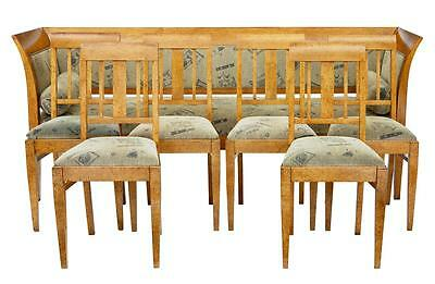 19Th Century Sofa And 6 Chairs In Birch Root