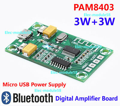 PAM8403 5V USB Stereo Audio Digital Bluetooth Amplifier Board 2 Channel 3W*2 Amp