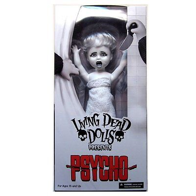 Living Dead Dolls Psycho Marion In White Bath Towel DAMAGED OUTER BOX