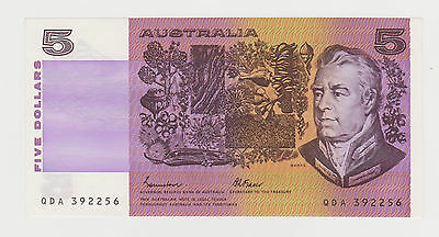 1985 AUSTRALIA $5 JOHNSTON FRASER QDA 392256 PICK 44e UNC