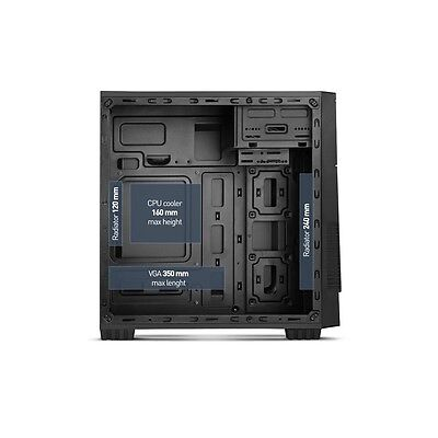 Nox Virtus Case Micro ATX Mini Tower USB 3.0 compatibile schede madri Micro ITX