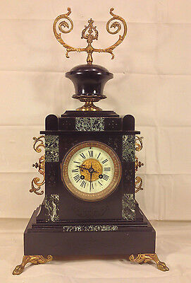 Antique Japes Freres Mantel Clock with Urn Topper Runs & Strikes  France