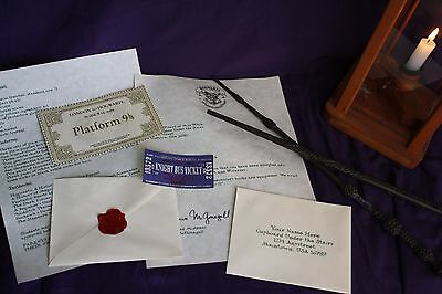 Personalized Hogwarts Acceptance Letter (delux set)  **SEE IMPORTANT NOTE BELOW*