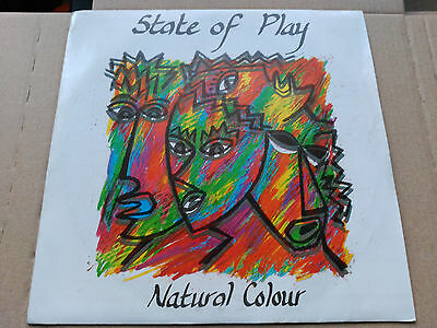 Single State Of Play - Natural Colour - Virgin Spain 1986 Vg+