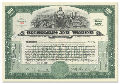 Petroleum and Trading Corporation Stock Certificate