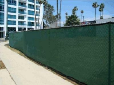 6' x 50' Heavy Duty Green Mesh Privacy Screen Fence Tarp, Ballpark Fence