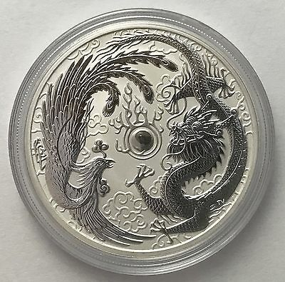2017 Australian Dragon and Phoenix 1 oz .999 Silver Bullion Coin