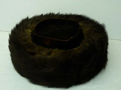 "Authentic Chassidic Shtreimel Jewish Rabbi Real Fur Hat, Inner L 7 1/4"", Malchut"
