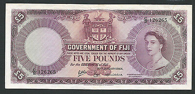 Fiji 1964 P-54e VF/XF 5 Pounds *Nice Original Note*
