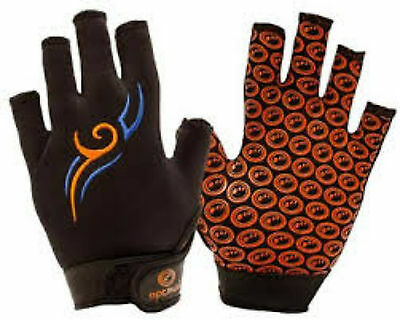 Optimum Velocity Full Finger Glove Black Blue Orange