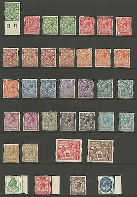 1911-29 Gv Mounted Mint Selection Of 36 High Cat ,odd Gum Crease Ect See Scans