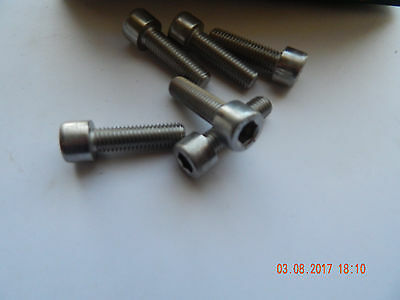 STAINLESS STEEL SOCKET HEAD CAP SCREW.  10 M - 1.5 x 35 MM,  6 PCS. NEW
