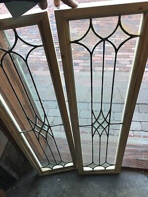 Sg 1217 2 Available Price Separate Antique Leaded Beveled Window 12 X 44