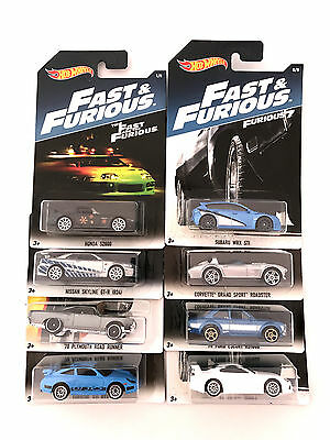 Hot Wheels Fast And Furious 8 Collection 8 Cars