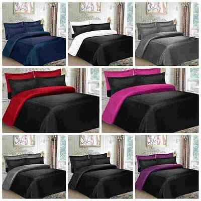 6 Piece Microfiber Complete Bedding Set Duvet Cover Fitted Sheet & Pillowcases