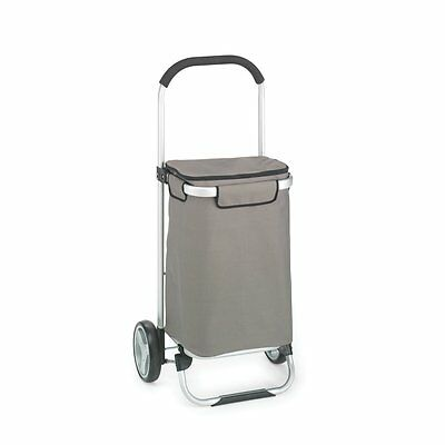 Shopping Bag Tote Cart Foldable Trolley Grocery Rolling Luggage Aluminum Frame