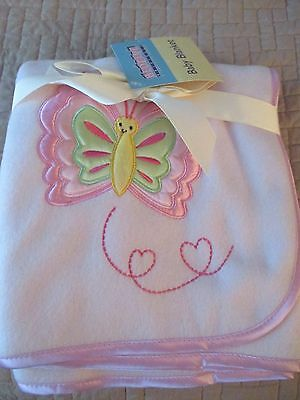 Nwt Bedtime Orgininals Baby Blanket Butterfly Pink